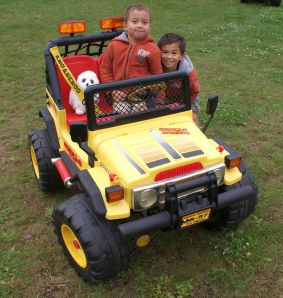 gator breast cancer thirties 30s 30's owl john deere gator world cancer day postaday weekly photo challenge object young twins kids